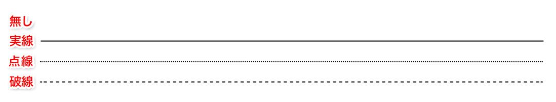 枠線の種類