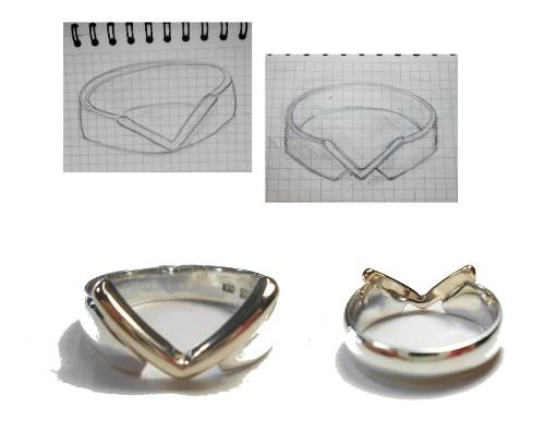 オーダーメード手作り指輪