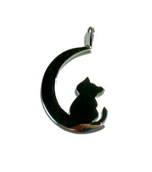 シルバーペンダントトップ猫