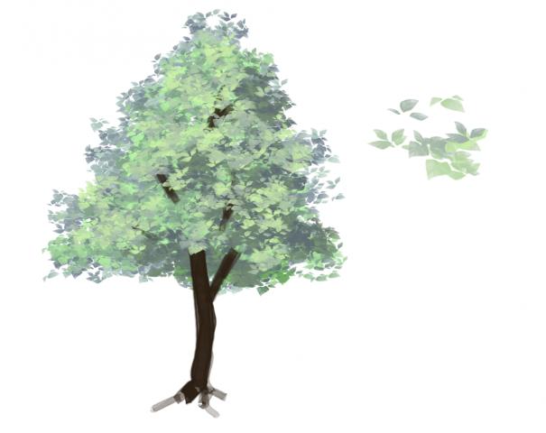 木の葉ブラシサンプル