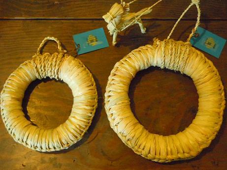 藁の鍋敷き
