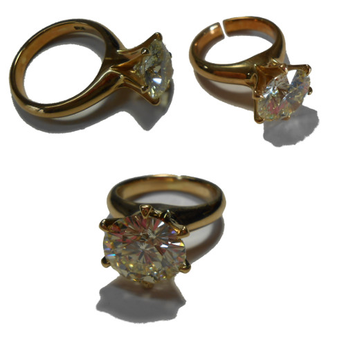 K18ダイヤ指輪サイズ変更