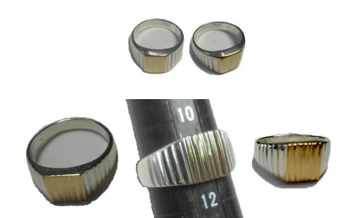 シルバー925K18金印台式指輪をハンドメードでオーダーメード行います。