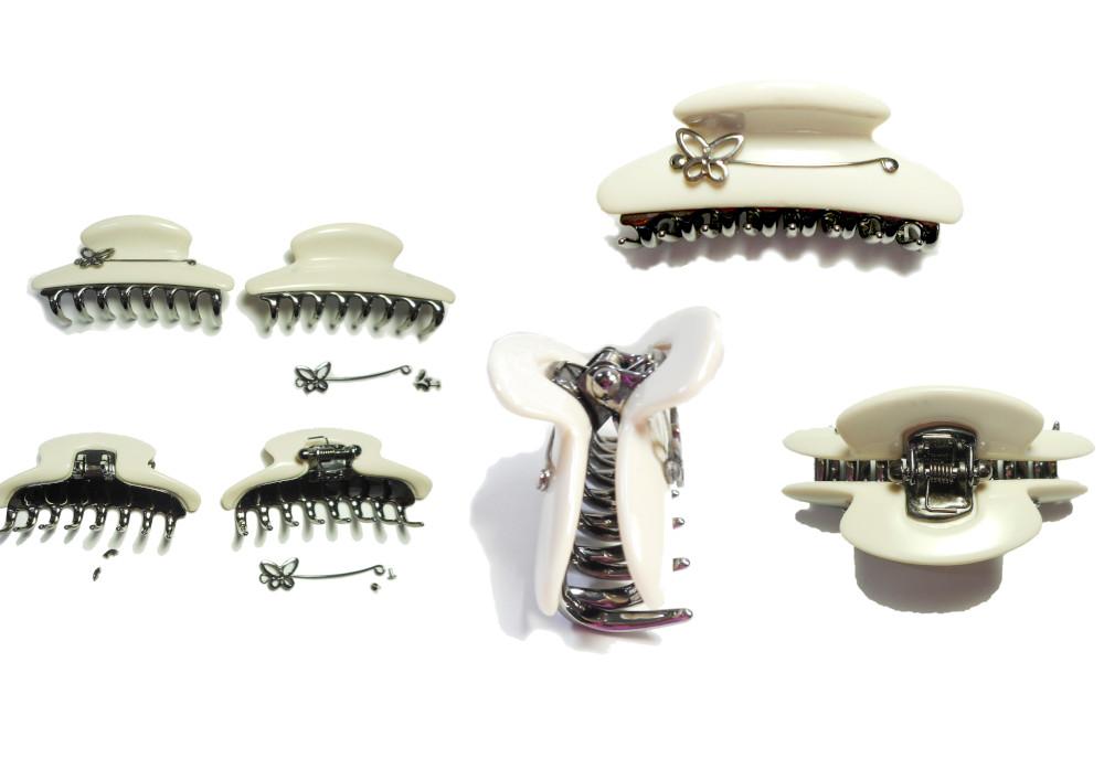 ヘアークリップ、バンスクリップの蝶番割れ修理のご紹介になります。