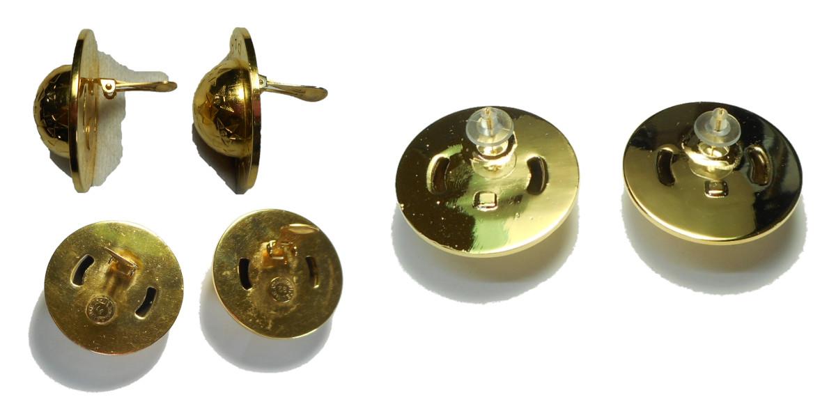 メッキ製のイヤリングをピアスへ変更しました。